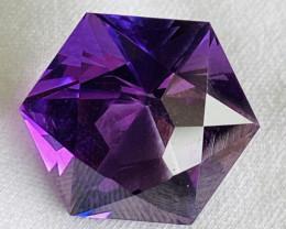 11.29 ct Amethyst with Fine cutting  Gemstone