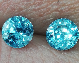 Topas pair, 2.975ct, excellent stones, great cut and awesome colour!