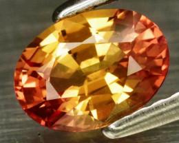 1.00 ct 7x5mm  Natural Yellow & Orange Sapphire Songea, Tanzania