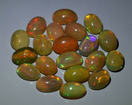 20pcs Lot 10.19 ct  Natural Play-of-Color Crystal Opal, Ethiopia