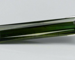 Big Size! 18.13 ct 38x7.8mm Scissor-Cut Natural Unheated Green Tourmaline