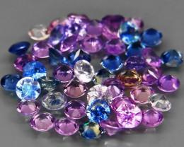 4.37 Ct./   50Pcs/  2.7 mm Natural Fancy Color  Sapphire Sri Lanka Diamond
