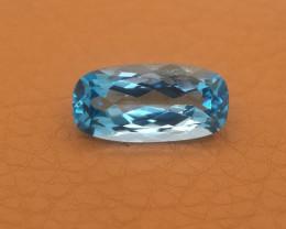 Russia Topaz 14.96 Cts Aqua Blue Portuguese Cut BGC532