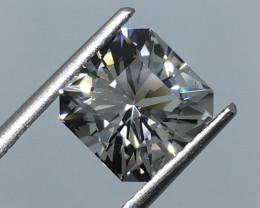 3.40 Carat VVS Topaz Nigerian Master Cut - Diamond White Color Flawless !