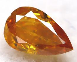 Yellowish Orange Diamond 0.12Ct Natural Untreated Fancy Diamond AT0915