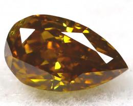 Greenish Champagne Diamond 0.12Ct Natural Untreated Fancy Diamond AT0918