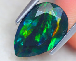 2.02ct Natural Ethiopian Welo Solid Smoked Faceted Opal Lot B2339