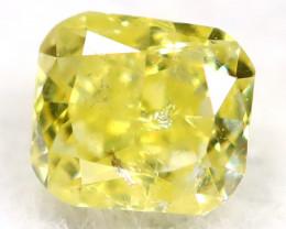 Intense Yellow Diamond 2.6mm Natural Untreated Fancy Diamond AT0928
