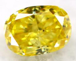 Greenish Yellow Diamond 2.9mm Natural Untreated Fancy Diamond AT0953