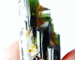 23.90 CT Natural - Unheated Green Cap Tourmaline Crystal
