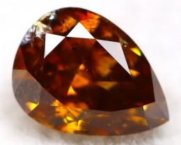 Champagne Orange Diamond 0.20Ct Natural Untreated Fancy Diamond AT0929