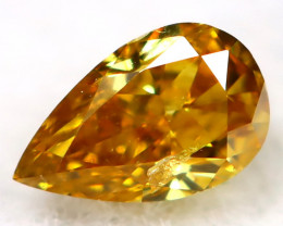 Orange Diamond 3.9mm Natural Untreated Fancy Diamond AT0954