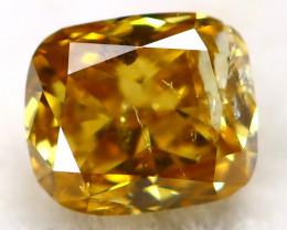 Yellowish Orange Diamond 0.11Ct Natural Untreated Fancy Diamond AT0930