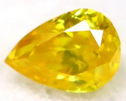 Intense Yellow Diamond 2.8mm Natural Untreated Fancy Diamond AT0955