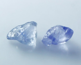 3.40CT Natural - Unheated Blue Sapphire Rough Lot