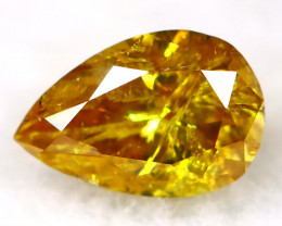Intense Yellow Orange Diamond 3.6mm Natural Untreated Fancy Diamond AT0956