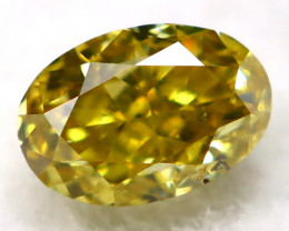 Greenish Orange Diamond 3.0mm Natural Untreated Fancy Diamond AT0932