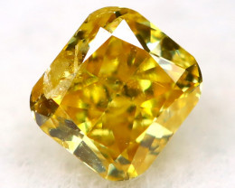 Yellowish Orange Diamond 0.10Ct Natural Untreated Fancy Diamond AT0960