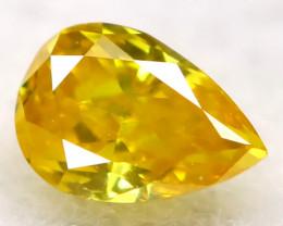 Intense Yellow Orange Diamond 2.9mm Natural Untreated Fancy Diamond AT0964