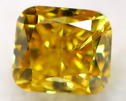 Yellowish Orange Diamond 2.5mm Natural Untreated Fancy Diamond AT0974