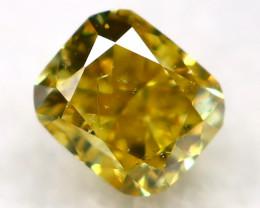 Yellowish Green Diamond 2.4mm Natural Untreated Fancy Diamond AT0975