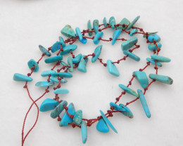 49cts Natural Turquoise ,Handmade Gemstone ,Turquoise  parcel 54cm H123