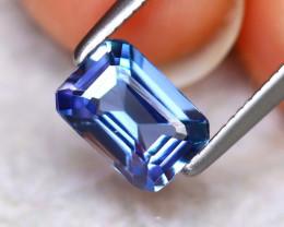 Tanzanite 0.82Ct Natural VVS Purplish Blue Tanzanite D1709/D3