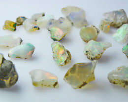 38.20 CT Natural - Unheated Milky White Opal Rough Lot
