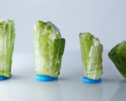 67.20  CT Natural - Unheated Green Tourmaline Crystal Rough  Lot