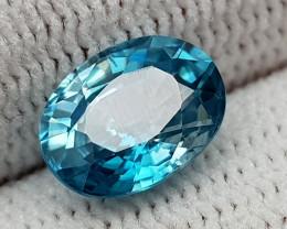 2.90CT NATURAL BLUE ZIRCON BEST QUALITY GEMSTONE IIGC006