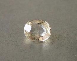 0.85ct unheated yellow sapphire