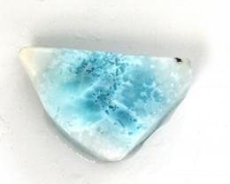 Finest Natural Sky Blue Larimar Slab Slice 42x27x11mm 100cts