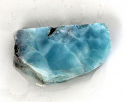 Lovely Natural Deep Blue Larimar Slab Slice 43x24x10mm 21.5grams