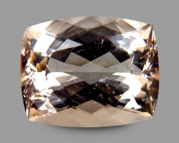 12.16 Cts Brazilian Morganite Peach Cushion Antique Step Cut BGC114