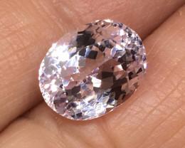 4.12 Carat VVS Kunzite Untreated Soft Pink Precision Cut Quality !