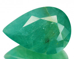 ~RAREST~ 6.82 Cts Natural Grandidierite Bluish Green Pear Cut Madagascar