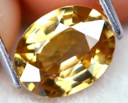 Yellow Zircon 2.21Ct Oval Cut Natural Yellow Zircon B1504