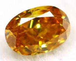 Yellowish Orange Diamond 3.0mm Natural Untreated Fancy Diamond AT0003