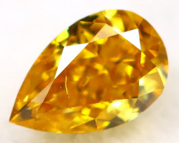 Yellowish Orange Diamond 3.6mm Natural Untreated Fancy Diamond AT0006