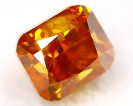 Intense Orange Diamond 0.15Ct Natural Untreated Fancy Diamond AT0007