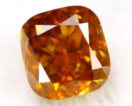 Intense Orange Diamond 2.5mm Natural Untreated Fancy Diamond AT0008