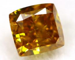 Greenish Orange Diamond 0.11Ct Natural Untreated Fancy Diamond AT0022