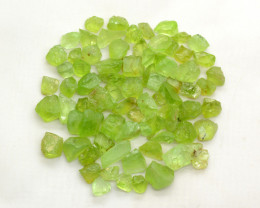 150 CT Top Green  Peridot Crystals@  Pakistan