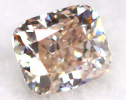 Champagne Pink Diamond 0.15Ct Natural Untreated Fancy Diamond A1607