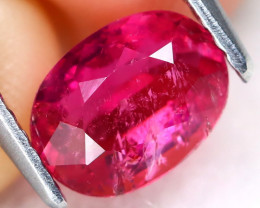 Pink Tourmaline 1.32Ct Oval Cut Natural Vivid Pink Tourmaline B1608