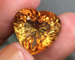18.97 CT RARE GRI CERTIFIED HOT LUSTER NATURAL SHERRY TOPAZ