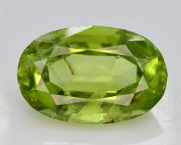 Apple Green 2.90  Ct Natural Peridot