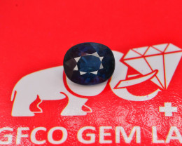 GFCO CERT AAA Color 1.45 Ct Cornflower Blue Sapphire - No Heat - Nigeria