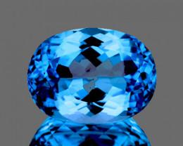 23.5x17.5 mm Oval 38.92cts Swiss Blue Topaz [VVS]