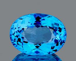 20.5x15.5 mm Oval 29.24cts Swiss Blue Topaz [VVS]
